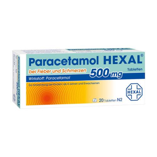 PARACETAMOL 500 mg HEXAL b. Fieber u. Schmerzen Tab.